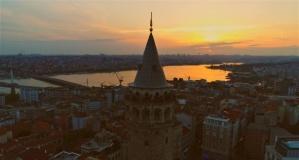 Galata Kulesi'nin mest eden manzarası