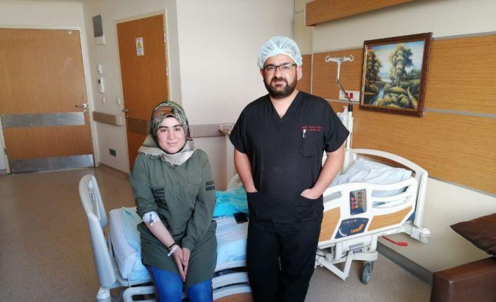 Yanlışlıkla yuttuğu iğne 3 ay sonra operasyonla çıkarıldı
