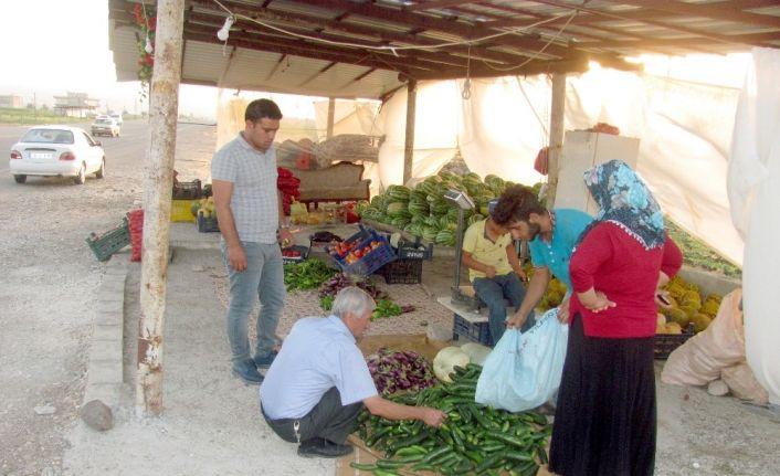 Araban Ovası'nda yetişen organik ürünlere yoğun ilgi