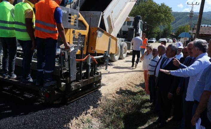 Cumhurbaşkanlığı YİK Üyesi Şahin Ovacık'ta asfalt çalışmalarını inceledi