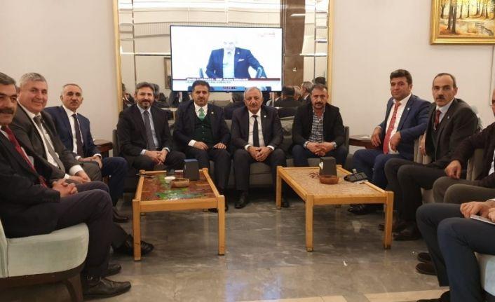 Ziraat odası başkanları milletvekilleriyle görüştü