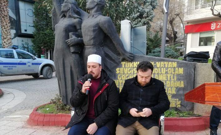 Erdek'te İdlib için anma