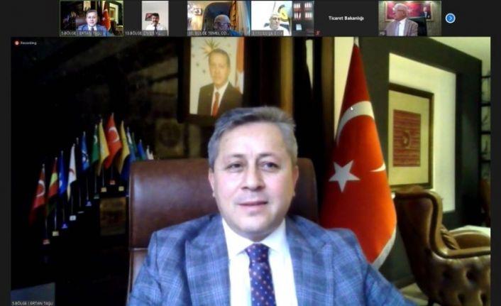 5. Bölge Başkanı Taşlı, Bakan Pekcan ile telekonferans ile görüştü