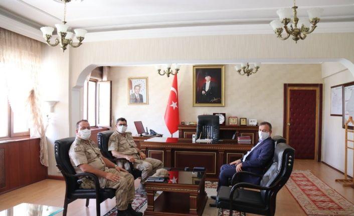 İl Jandarma Komutanı Gemalmaz Kaymakam Perçi'ye ziyaret etti