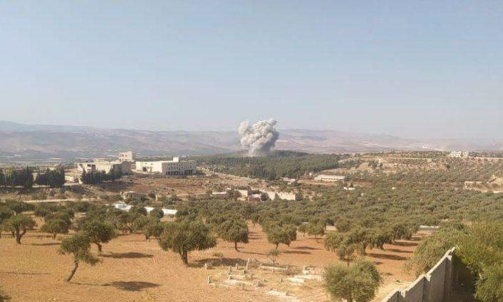 Rus savaş uçakları İdlib'e havadan saldırdı