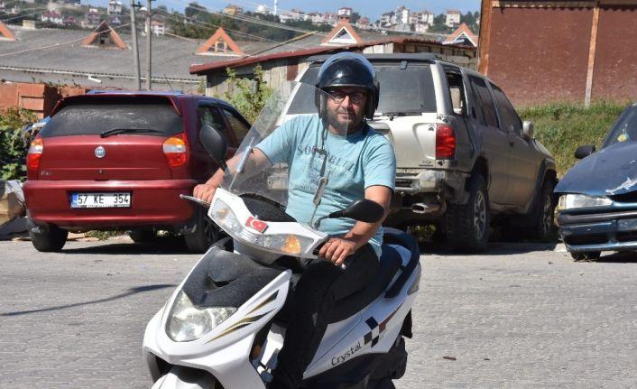 Sinop'ta görünmez kaza kamerada