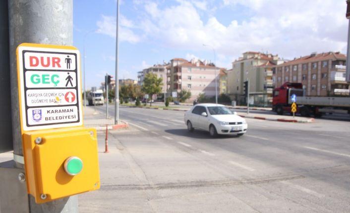 Karaman'da trafiğin yoğun olduğu bölgelere trafik lambası