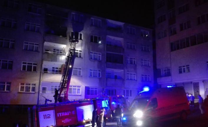 Ordu'da çıkan yangında iki kişi dumandan etkilendi