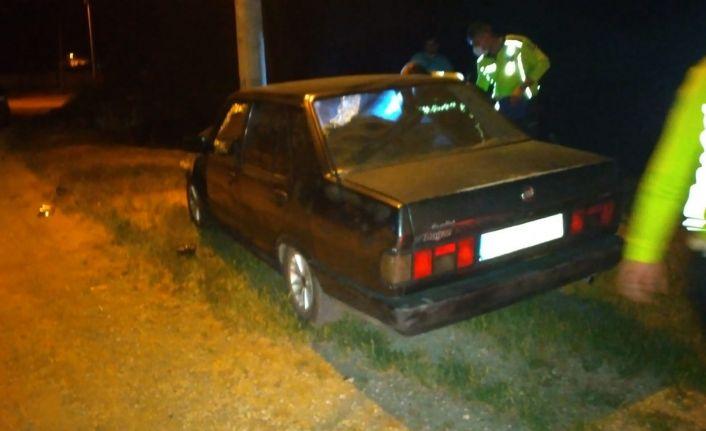 Polisten kaçıp direğe çarpan aracın sürücüsüne 11 bin 879 TL ceza