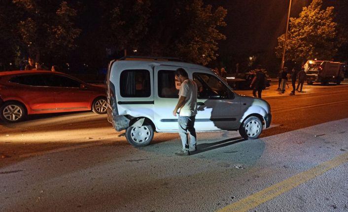 Ankara'da kaza, kazayı getirdi: 1 yaralı