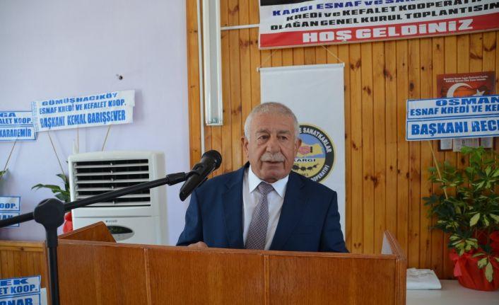 Kargı esnaf kefalette Mehmet Helvacı güven tazeledi