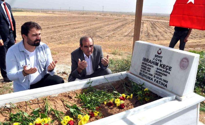 Denizi şehidin 59 yıl sonra sınırda bulunan mezarı onarıldı