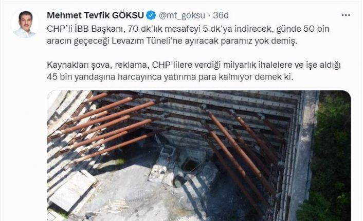 Esenler Belediye Başkanı Mehmet Tevfik Göksu'dan İBB Başkanı İmamoğlu'na tepki