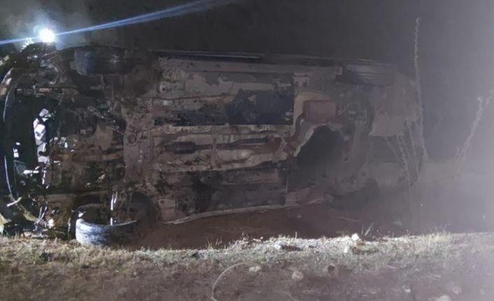 Kontrolden çıkan araç takla attı: 2 yaralı