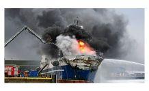 Norveç'te 200 bin litre yakıt bulunan Rus gemisi yandı