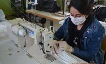 Bozdoğan'da günde 300 maske üretiliyor