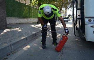 Bolu'da okul servislerine 9 bin lira ceza