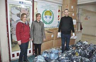 İstanbul'dan Yüksekova'ya kumaş desteği