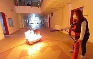 ADÜ'de yangın, arama-kurtarma ve tahliye tatbikatı...