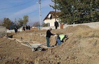Ulalar yerleşkesinde yol bakım onarım çalışması