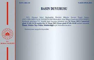 Nilüfer İlçe Nüfus Müdürlüğü hafta sonu açık...