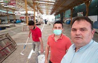 Balıkesir'de pazarcılar hazırlıklara başladı