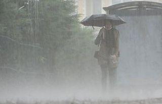 Doğu Anadolu'da aralıklı sağanak yağış etkili...