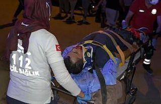 Antalya'da otomobil ile motosiklet çarpıştı:...