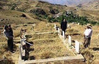 Geçitli patlamasında ölen 9 kişi mezarları başında...