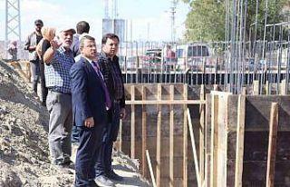 Kaymakam Çimşit ve Sancaktar köprü inşaatını...