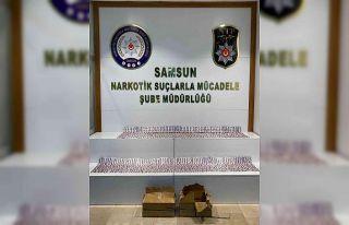 Samsun'da 5 bin 740 adet uyuşturucu hap ele geçirildi