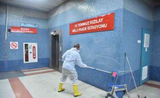 Ankara Büyükşehir Belediyesi temizlik timleri 7/24 iş başında