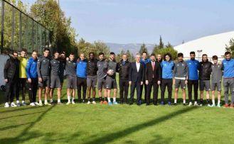 Denizlispor'a Balıkesir maçı öncesi moral ziyareti
