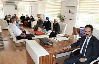 Hattuşalı kadın girişimcilerden kaymakam Ataman'a teşekkür ziyareti