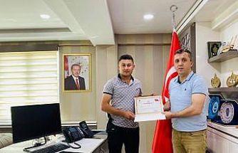 Kaymakam Solmaz'dan jandarma personellerine başarı belgesi