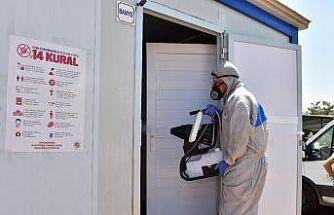 Kepez'in kurban pazarları dezenfekte edildi