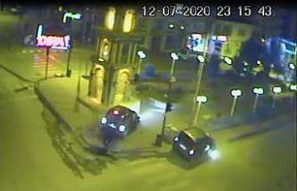 Tosya'da 6 kişinin yaralandığı kaza kameralara yansıdı