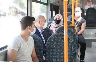 İçişleri Bakanı Soylu halk otobüsüne binerek korona virüse karşı vatandaşları uyardı