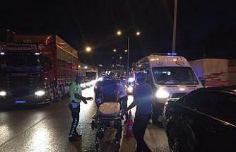 Kontrolsüz şerit değişikliği kazaya neden oldu: 2 yaralı
