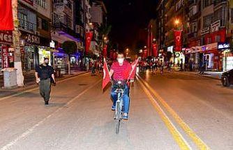 Malatya'da bisikletli denetim