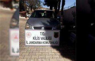 Osmaniye'den çalınan otomobil Kilis'te yakalandı