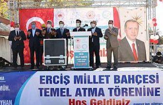 Erciş'te Millet Bahçesi'nin temel atma töreni gerçekleştirildi