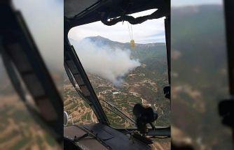 Mersin'deki orman yangını sürüyor