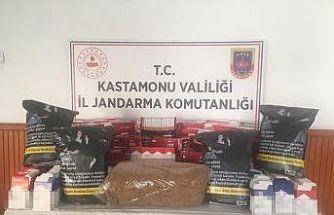 Kastamonu'da jandarma ekiplerinden kaçak tütün operasyonu