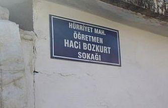 Merhum Gazeteci Bozkurt'un adı sokağa verildi