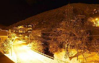Zonguldak'ta kartpostallık kar manzaraları
