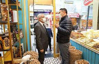 Başkan Güder'den esnaflara destek ziyareti