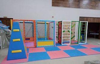 Yeni çocuk kulübü oyun ve çalışma gruplarının montajı tamamlandı