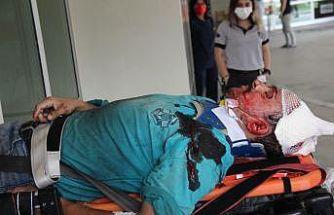 Çatı çöktü, tadilat yapan vatandaş yaralandı