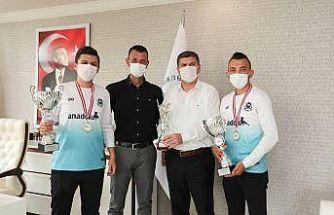 Kupa heyecanını Başkan Ercengiz'le paylaştılar